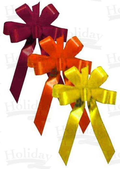 #09 Six Loop Poly Satin Bow/ASSORTED