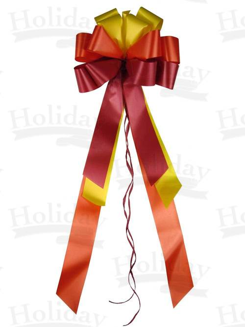 #40 Twelve Loop Poly Satin Bow/TRI COLOR HARVEST