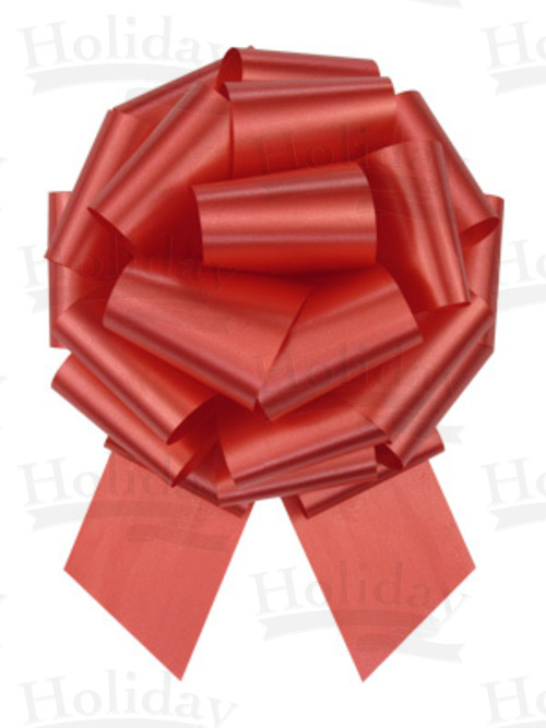 #40 Poly Satin Pull Bow/RED/50 pack