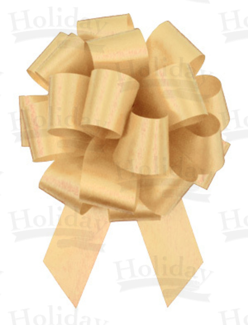 #09 Poly Satin Pull Bow/BUTTERMILK/50 pack