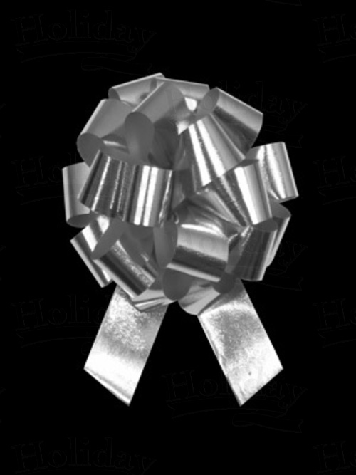 #09 Poly Satin Pull Bow/METALLIC SILVER/50 pack