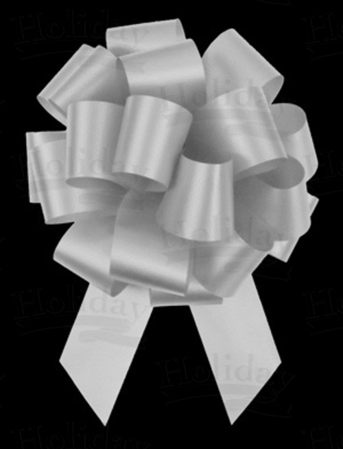 #09 Poly Satin Pull Bow/WHITE/50 pack