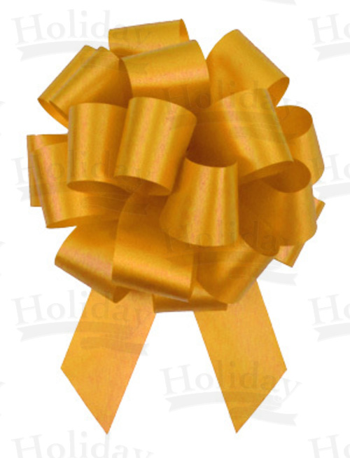 #09 Poly Satin Pull Bow/YELLOW GOLD/50 pack