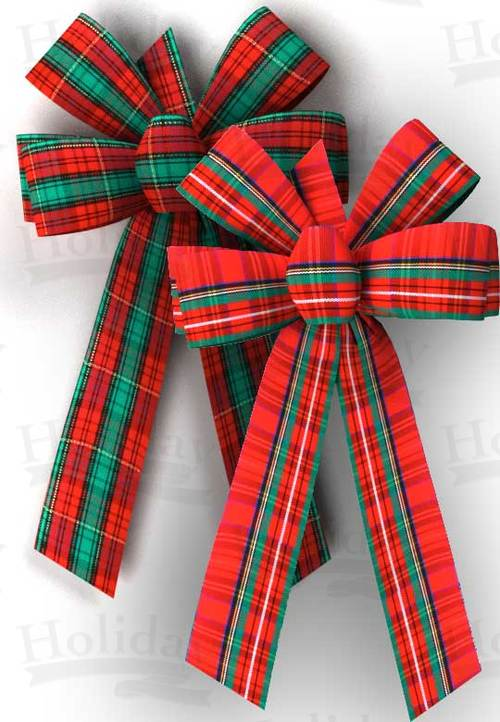 #09 Six Loop Plaid Bow/ASSORTED