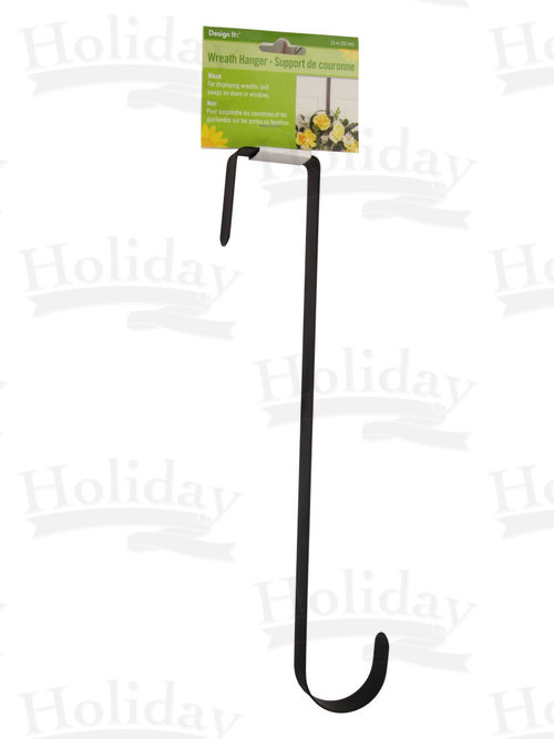 "Wreath Hanger, Black, 13"" long, 3 Pack"