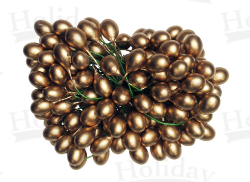 Holly Berries, 10 gross, 9-10mm, Gold