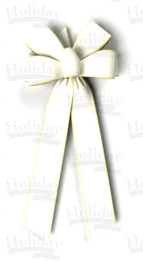 #40 Cream Velvet, Gold Wired Edge Bow - Click Image to Close