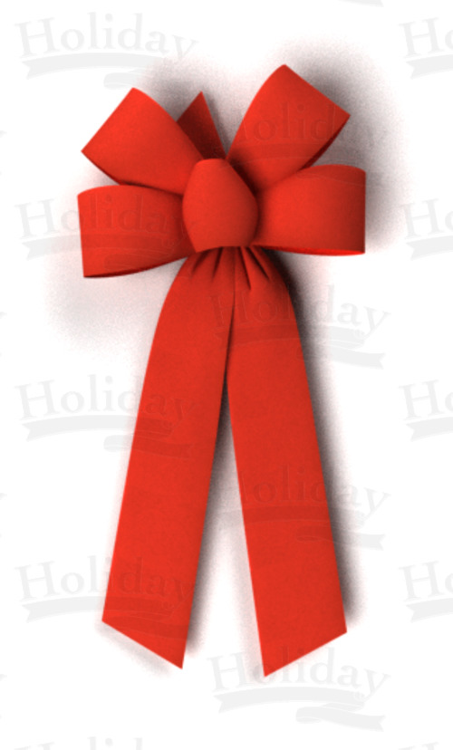 Velvet Value Bow, 4 Loops/RED