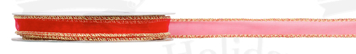 #03 Sheer Sparkle, Wired Ribbon/RED/25 yds