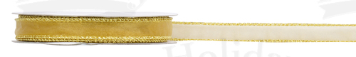 #03 Sheer Sparkle, Wired Ribbon/GOLD/25 yds