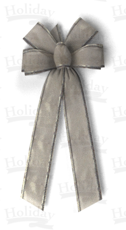 #40 Six Loop Elite Metallic Bow/ANITQUE SILVER
