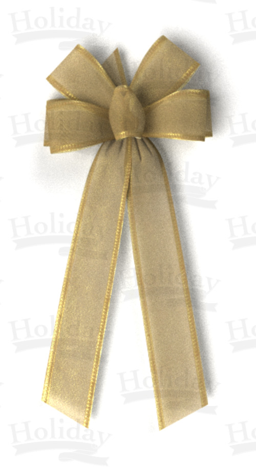 #40 Six Loop Elite Metallic Bow/ANTIQUE GOLD