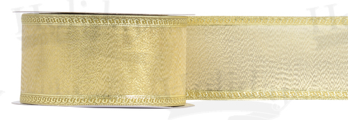 #40 Elite Metallic Ribbon/ANTIQUE GOLD/25 yds