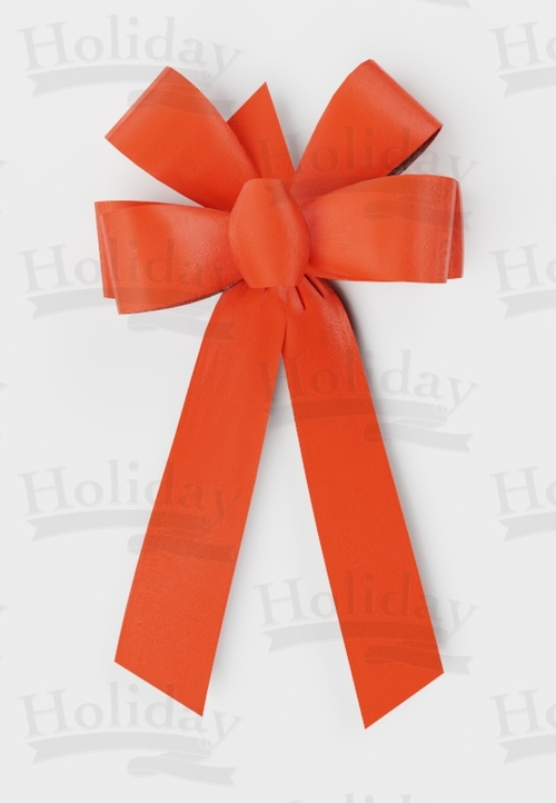 #09 Six Loop Poly Satin Bow/ORANGE