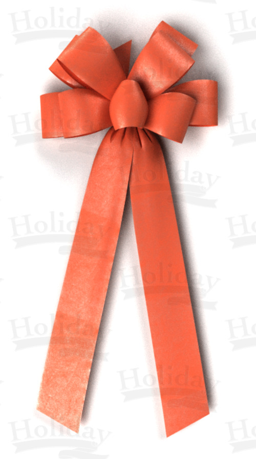 #40 Eight Loop Poly Satin Bow/ORANGE