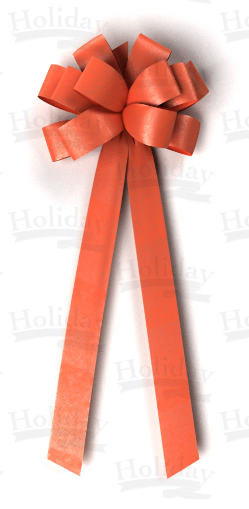 #40 Twelve Loop Poly Satin Bow/ORANGE