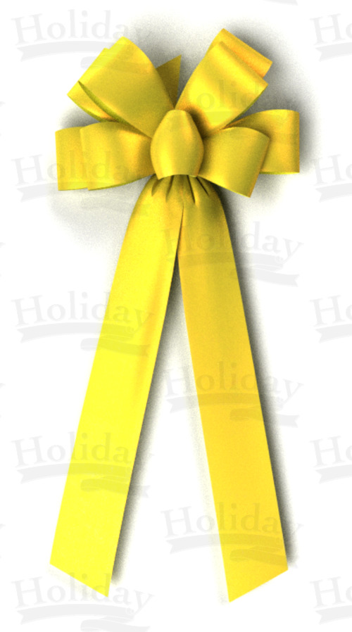 #40 Eight Loop Poly Satin Bow/YELLOW