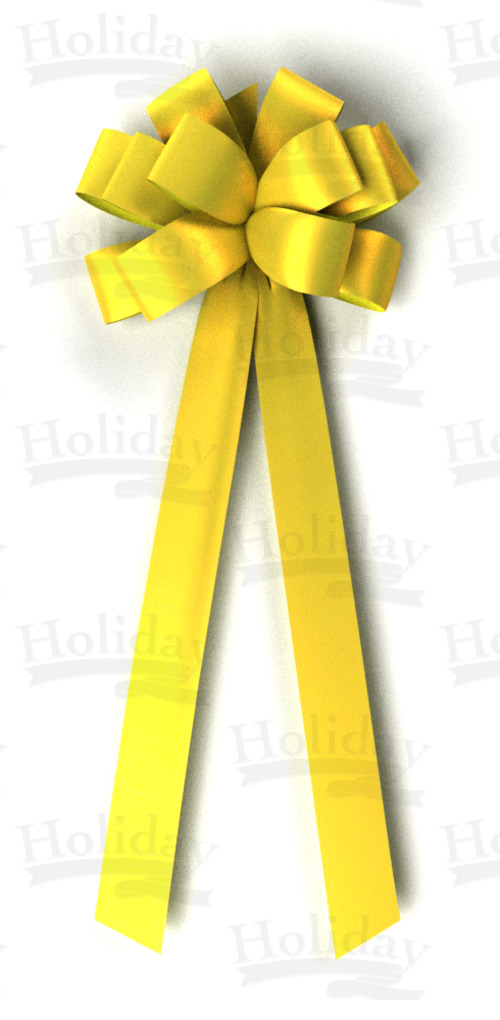 #40 Twelve Loop Poly Satin Bow/YELLOW