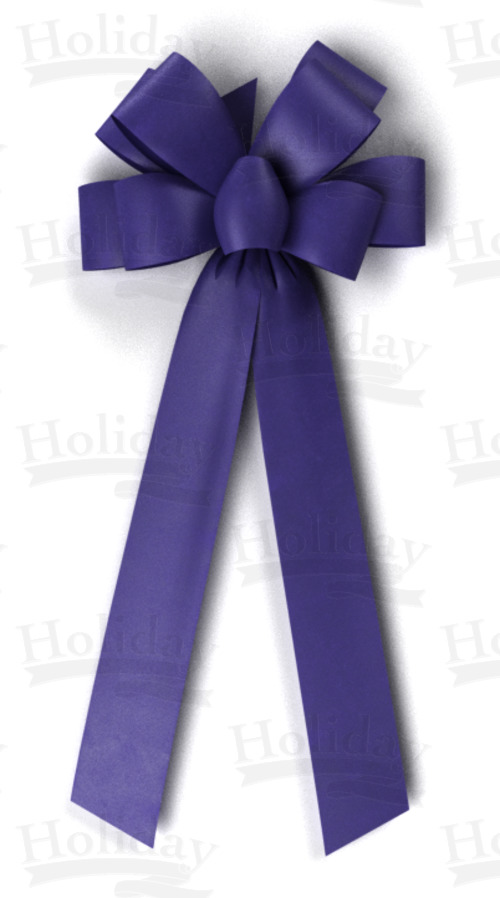 #40 Eight Loop Poly Satin Bow/PURPLE