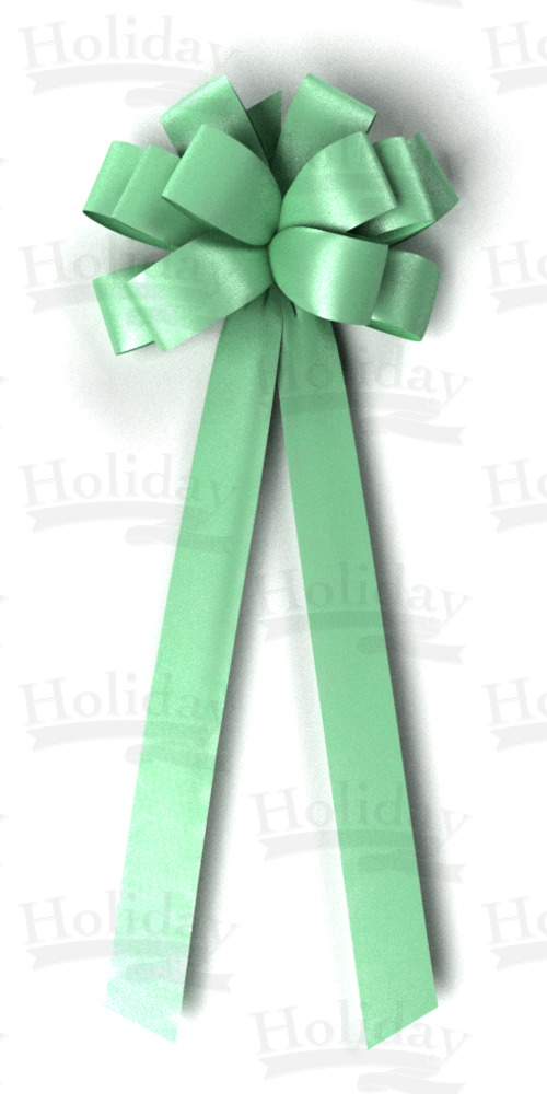 #40 Twelve Loop Poly Satin Bow/MINT
