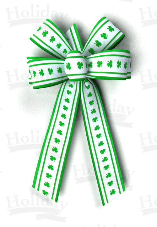 #09 Six Loop Poly Prints Bow/SHAMROCK