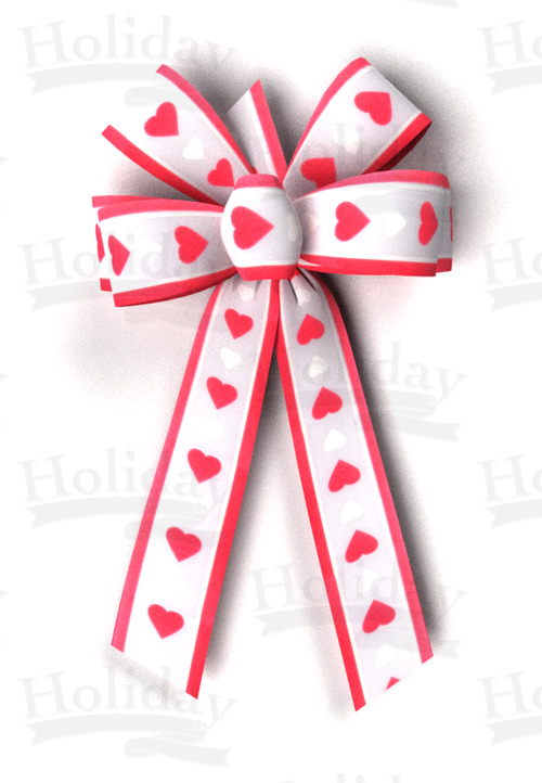 #09 Six Loop Poly Prints Bow/QUEEN OF HEARTS