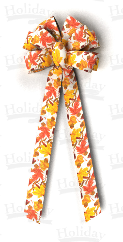 #40 Ten Loop Prints Bow/AUTUMN BREEZES