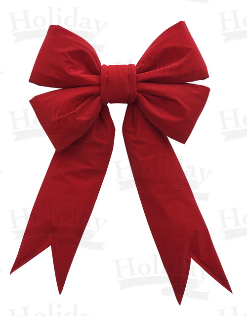 48 inch wide Giant Structural Red Bow, ALL RED, 1/box
