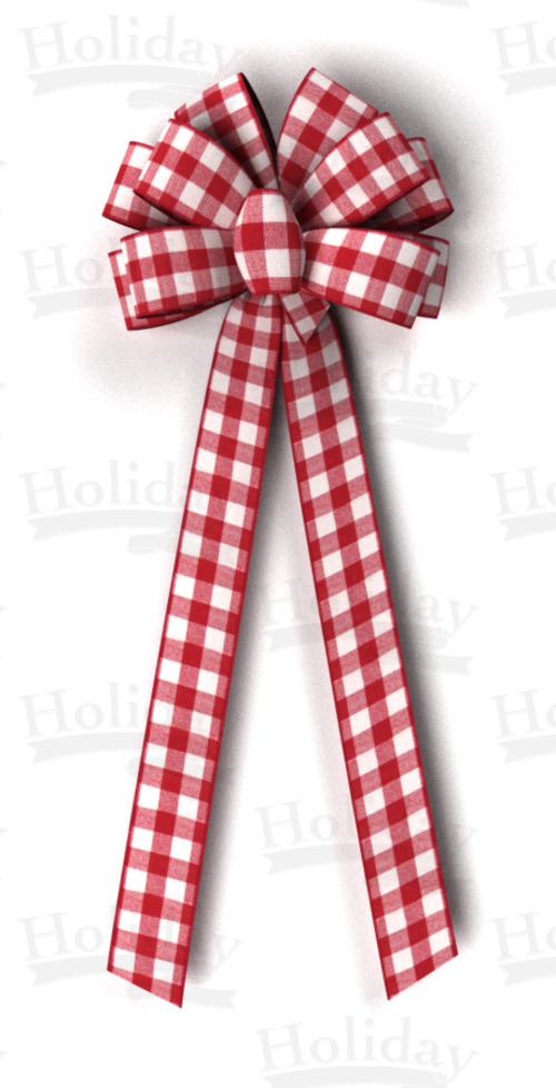 #40 Ten Loop Gingham Check Bow/Pattern A