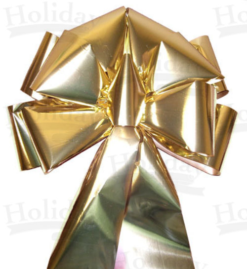 BIG! (#100) Glitter Poly Bow/GOLD