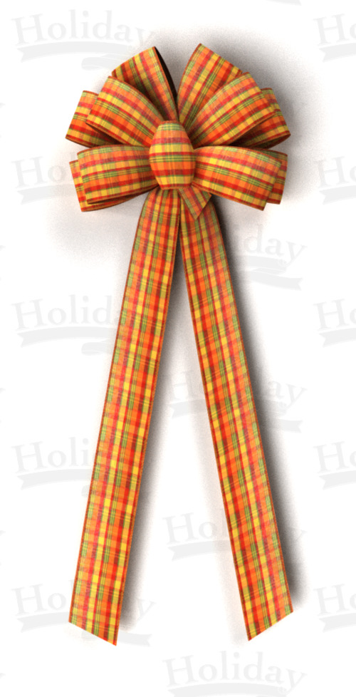 #40 Ten Loop Harvest Plaid Bow/Pattern A