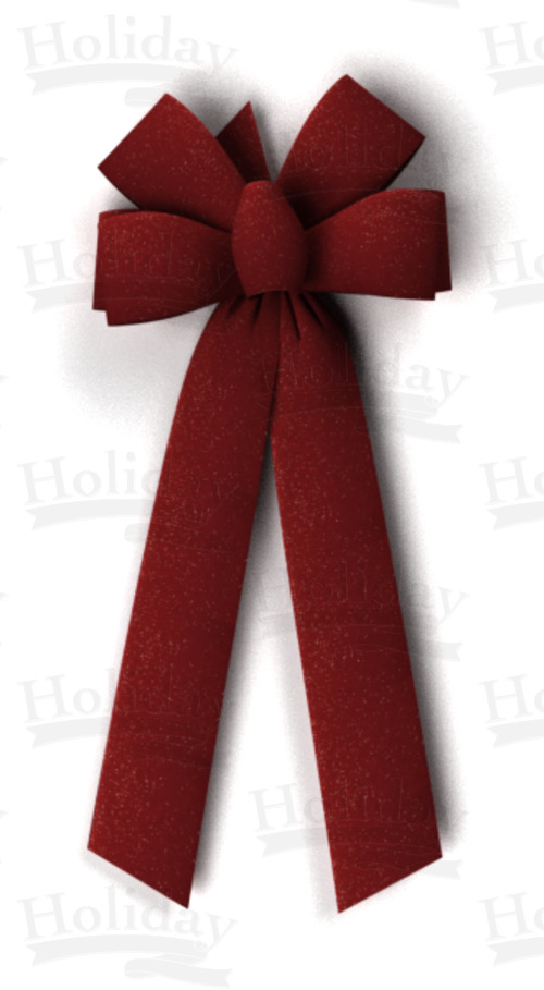 #40 Six Loop Shimmer Velvet Bow/BURGUNDY