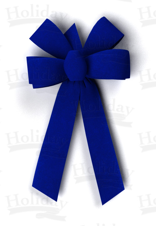 #09 Six Loop Velvet Bow/ROYAL BLUE