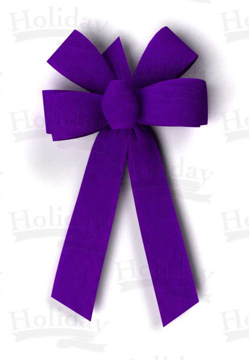 #09 Six Loop Velvet Bow/PURPLE