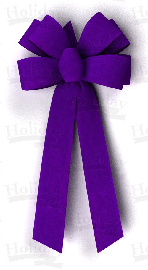 #09 Eight Loop Velvet Bow/PURPLE