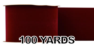 #100 Velvet Ribbon/BURGUNDY/100 yds