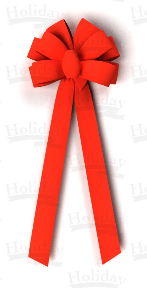 #40 Ten Loop Velvet Bow/RED