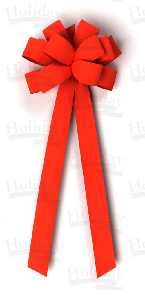 #40 Twelve Loop Velvet Bow - 4 tails/RED