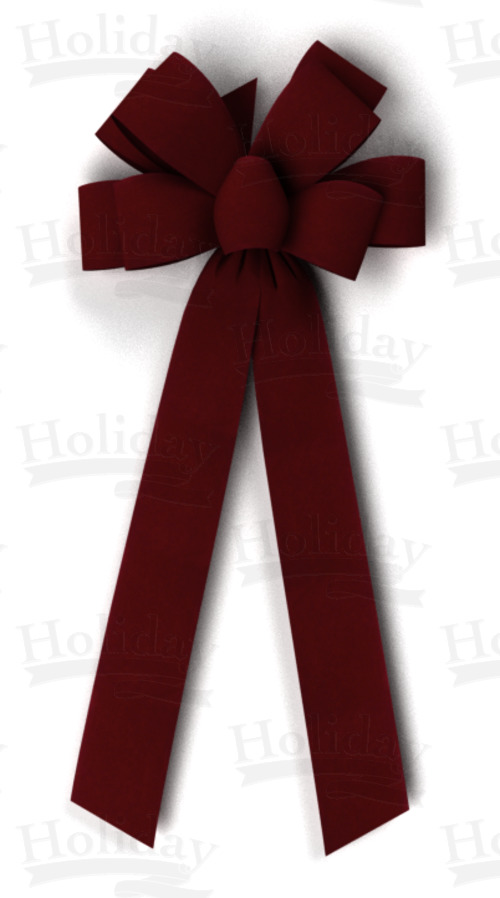 #40 Eight Loop Velvet Bow/BURGUNDY