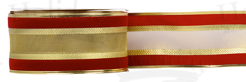#40 Velvet Edge Ribbon/RED/25yds