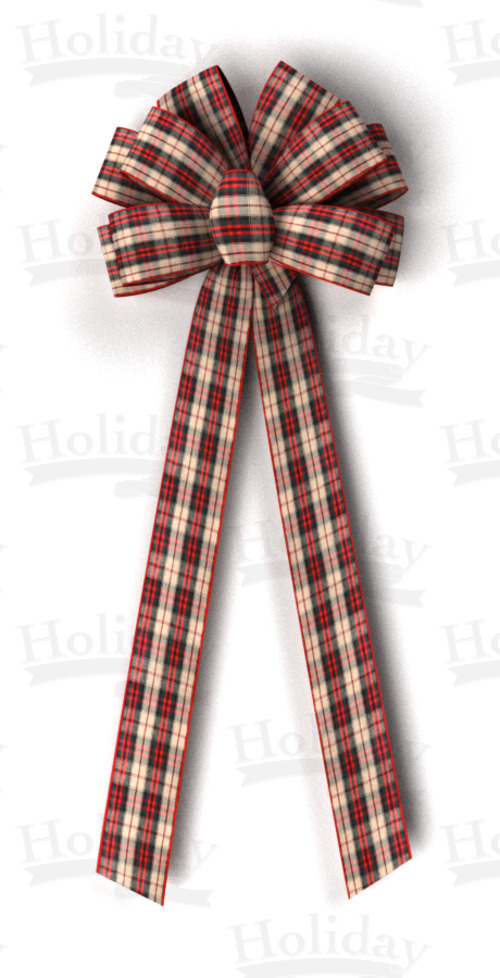 #40 Ten Loop Wired Country Plaid Bow/Pattern A