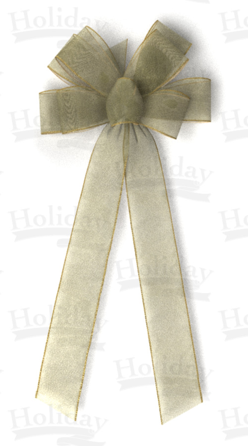 #40 Eight Loop Sheer Frost Bow/GOLD