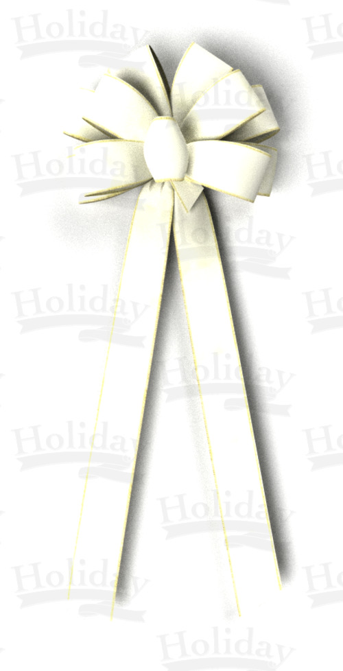 #40 Ten Loop Wired Velvet Bow/CREAM - Click Image to Close