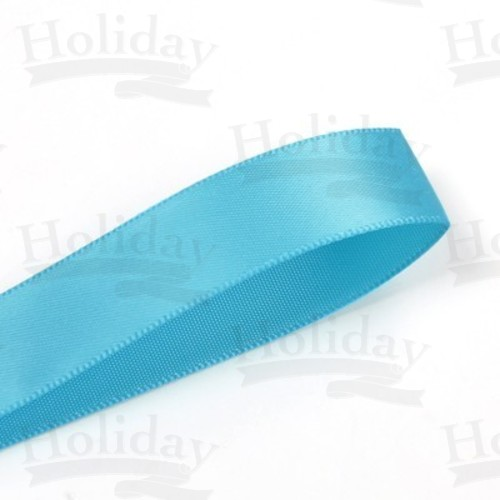 Double Face Satin Ribbon, Turquoise, 1/8 inch (3 mm)