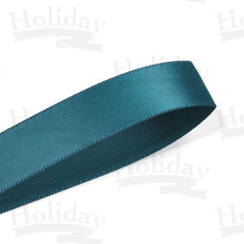 Double Face Satin Ribbon, Teal, 1/8 inch (3 mm)