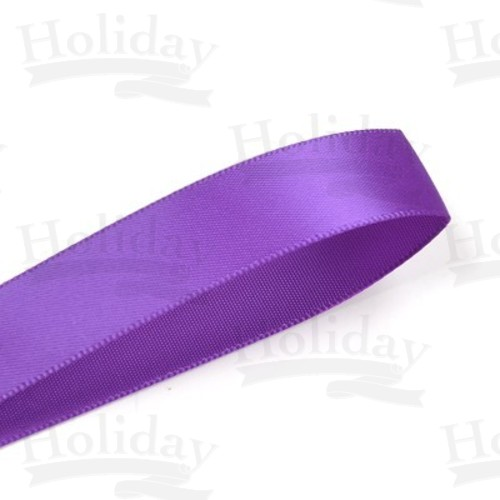 Double Face Satin Ribbon, Purple, 7/8 inch (22 mm)