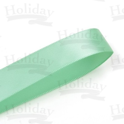 Double Face Satin Ribbon, Mint, 7/8 inch (22 mm)