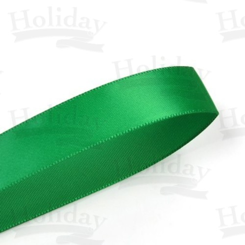 Double Face Satin Ribbon, Emerald, 7/8 inch (22 mm)