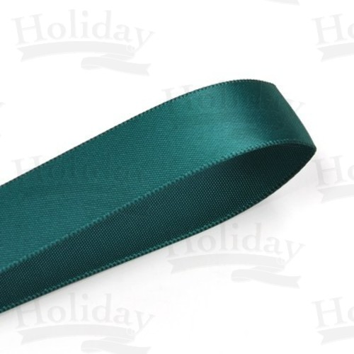 Double Face Satin Ribbon, Hunter, 7/8 inch (22 mm)