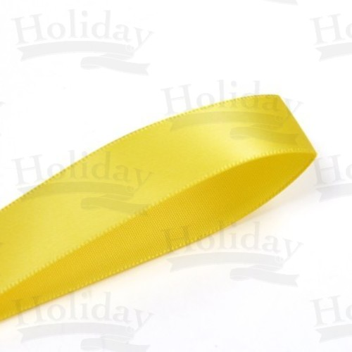 Double Face Satin Ribbon, Daffodil, 7/8 inch (22 mm)